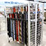 Wire Grid Belt Apparel Rack