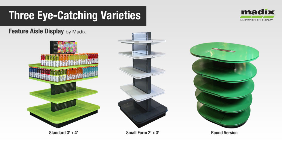Feature Aisle DisplayFreestanding Modern Fixture