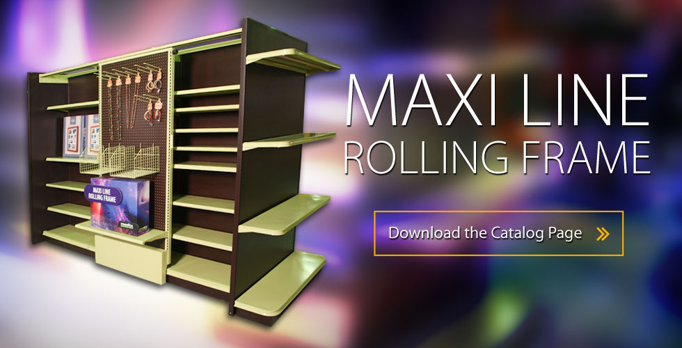 Maxi Line Rolling Frame Space-Efficient Rolling Display
