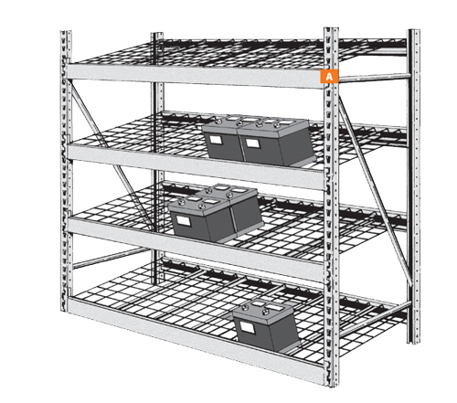 Wide Span Gravity Feed Battery Rack