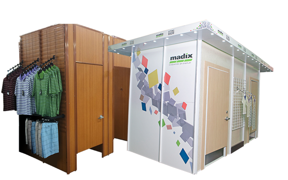 Maximize sales floor real estate with modular fitting rooms