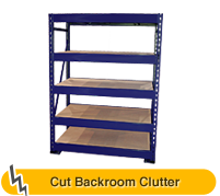 Cut Backroom Clutter