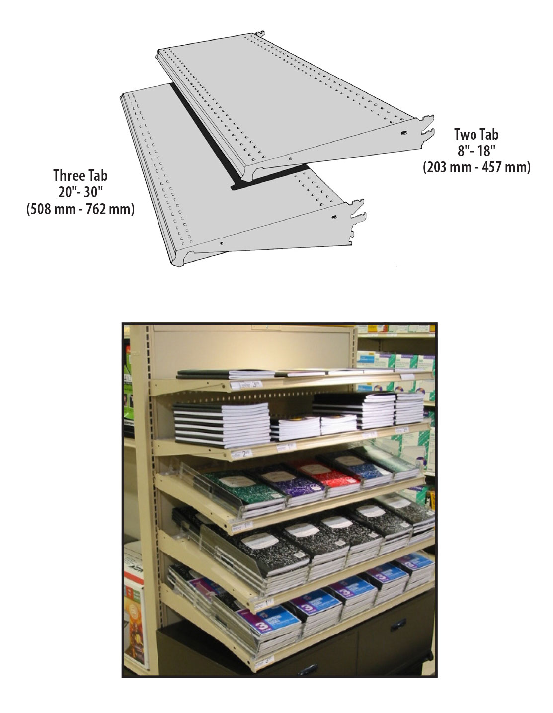 SUS-(NW)(ND)-Standard Upper Shelf Flat, 15° or 30° Downslope