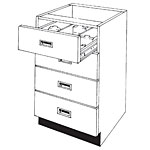 Pharmacy Wood Four Drawer Card File Unit