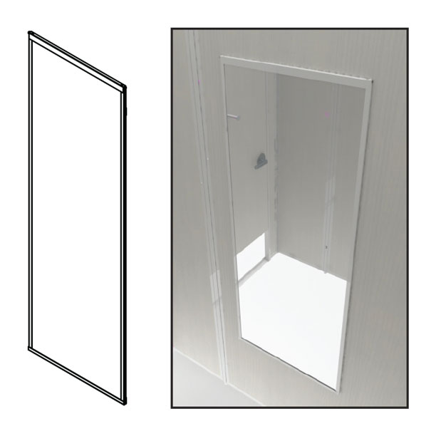 FRMFM-Fitting Room Metal Framed Mirror