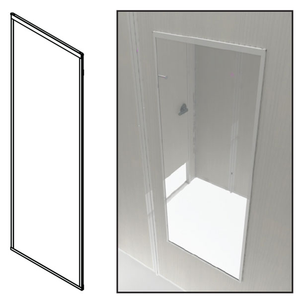 FRMFM54225-Fitting Room Metal Framed Mirror (ADA)