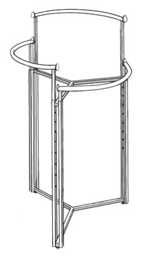 Three Level Circular Rack Double Post
