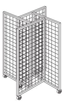 Wire Grid 4-Way Rolling Displayer
