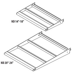 LUSFBN(NW)(ND)-Lighted Upper Shelf with Bullnose Front