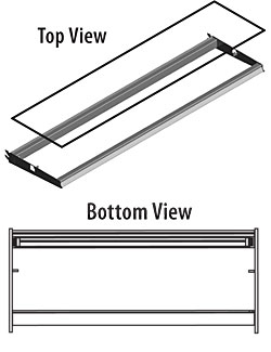 LUSANL-(NW)(ND)-(OPT2)-Lighted Upper Shelf Assembly