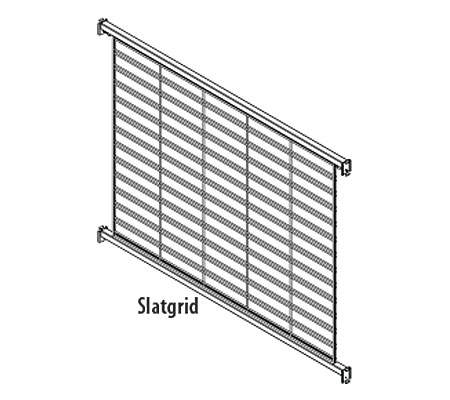 LUQB(TYPE)DP(NW)(NH)-Luxe Queuing Wire Grid Backs with Two (2) Panels Per Section