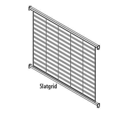 LUQB(TYPE)SP(NW)(NH)-Luxe Queuing Wire Grid Backs with One (1) Panel Per Section