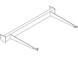 GSRFF-(NW)(ND)-Lumishelf™ Glass Shelf Radius Frame