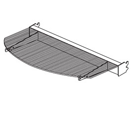 LSSRA(NW)(ND)-(OPT)-Lumishelf™ Radius LED Shelf Assembly