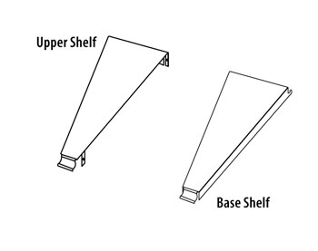 SSIR(TYPE)(ND)-(DEGREE)-Spacer System Inside Radius Upper & Base Shelves