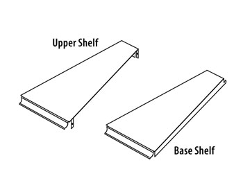 SSOR(TYPE)(ND)-(DEGREE)-Spacer System Outside Radius Upper & Base Shelves