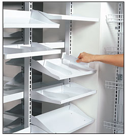 Tubular Pharmacy Shelf Divider