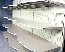 (OPT)RF(TYPE)-(NW)(ND)-Standard Upper & Base Shelf with Radius Front
