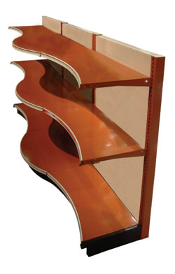 (OPT)MRFC(NW)(ND)-(ID)-Standard Upper & Base Shelf with Multi Radius Concave Front