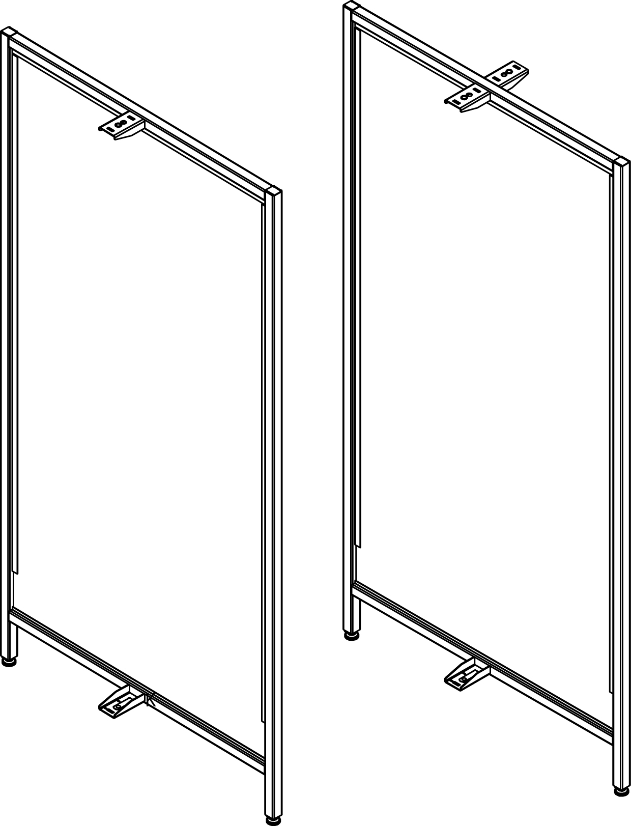 UFDPU(OPT1)(NW)(NH)(OPT2)-Vesta Fixture Upright Divider Panel, End and Intermediate